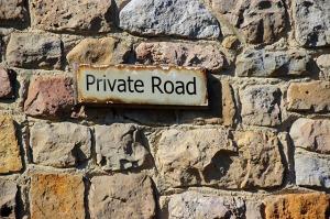 Schild Privatweg