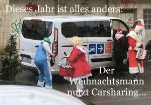 Der Weihnachtsmann nutzt Carsharing