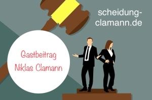 Grafik Paar vor Gericht